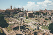 Panoramic view of Roman forum, also known by Forum Romanum