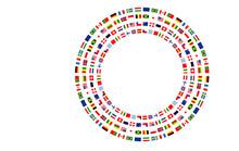 Bandiere, Bandierine, Bandiere Del Mondo, Internazionale