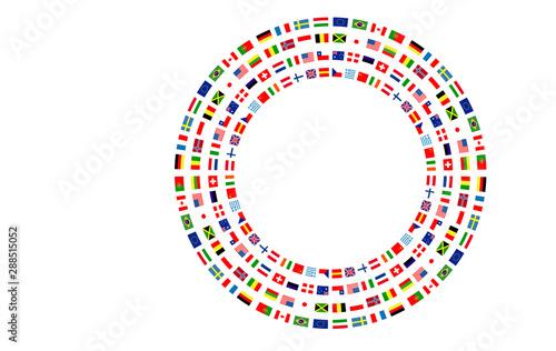 Fotografia bandiere, bandierine, bandiere del mondo, internazionale