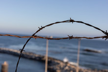 Beach With Barbed Wire