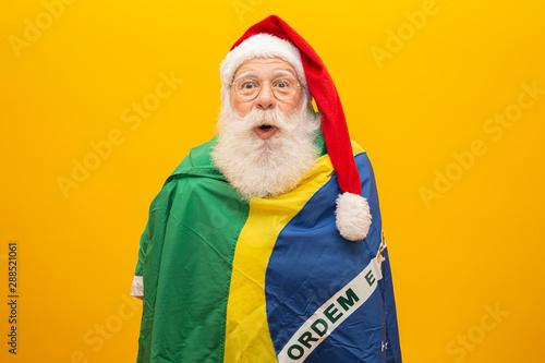 Santa Claus is a fan of Brazil Tableau sur Toile