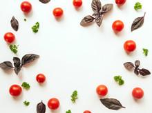 Frame Of Cherry Tomato, Purple...