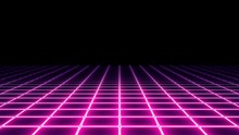 A 1980s Vaporwave Style Neon G...