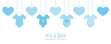 Its A Boy Welcome Greeting Car...