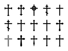 Christian Crosses. Catholic, O...