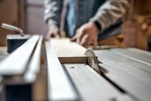 Caucasian Man Making Wooden Pa...