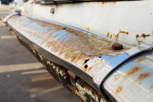 Rusty Chrome Car Bumper. Old R...