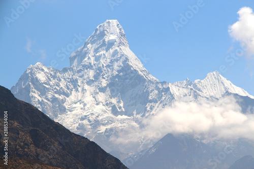 Photo  View of Ama Dablam mountain in Sagarmatha national park in Nepal