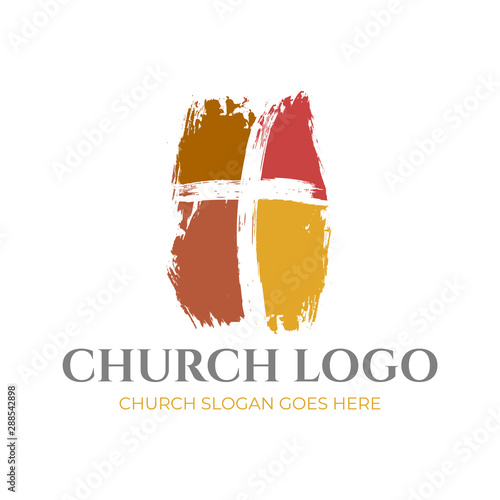 Fototapeta Christian Church Logo Design