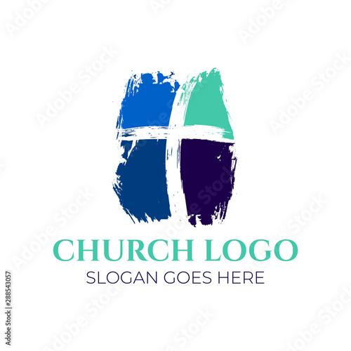 Leinwand Poster Christian Church Logo Design