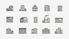 House Icon Set. Building, Buil...
