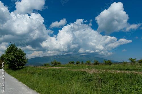 Beautiful clouds over Vitosha and Plana moumtains, Bulgaria Canvas Print
