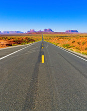 View Of Monument Valley On A S...