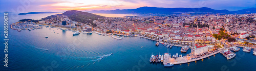 Staande foto Mediterraans Europa Aerial view of Split in Croatia