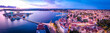 Leinwanddruck Bild - Aerial view of Pula in the evening, Croatia