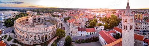 Pula amphitheater in the morning, Croatia
