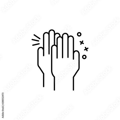 Fototapeta Clap hand friend icon. Element of friendship icon obraz na płótnie