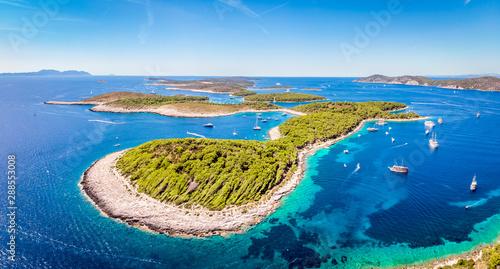 Foto auf Gartenposter Insel Aerial view of Paklinski Islands in Hvar, Croatia