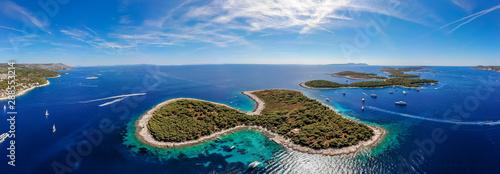 Wall Murals Island Aerial view of Paklinski Islands in Hvar, Croatia