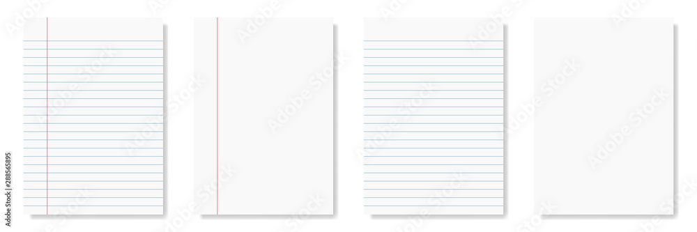 Fototapety, obrazy: notepad and notebook isolated on white for pattern and design