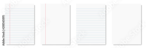 Obraz na plátně notepad and notebook isolated on white for pattern and design