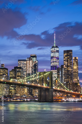Manhattan and Brooklyn Bridge, New York City