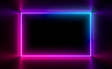 Multicolored Neon Lamps In A D...