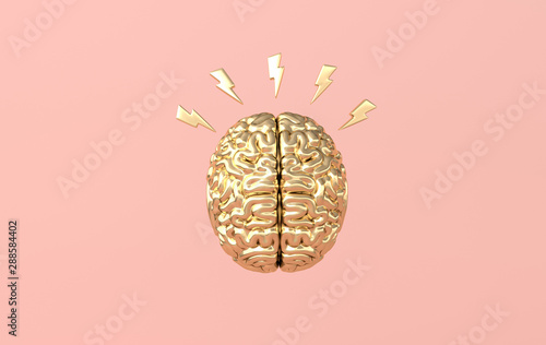 3d brain rendering illustration template background Fototapete