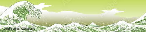 神奈川沖浪裏 黄緑ロングバージョン