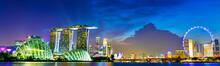 Panoramic View Of Singapore Sk...