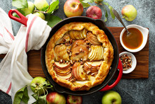 Apple Galette In A Cast Iron Pan