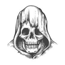 Hood Skull Tattoo