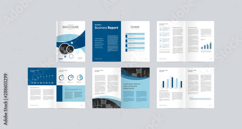 template layout design with cover page for company profile ,annual report , brochures, flyers, presentations, leaflet, magazine,book . and vector a4 size for editable. - 288603299