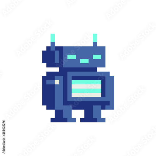 Chat Bot Robot Android Pixel Art Character Cyber Artificial