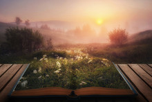 Open Fairytale Magical Book. A...