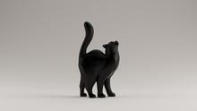 Black Cat Styled Sculpture Wit...