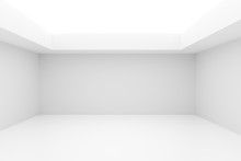 Empty White Room With Indirect...
