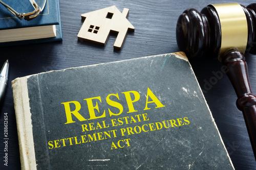 Fototapeta Real estate settlement procedures act RESPA on the desk.