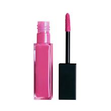 Liquid Lipstick Open Tube And Applicator Wand Isolated On White Backgrpund. Hot Pink Lip Gloss