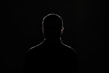 Silhouette: Guy On Black Backg...