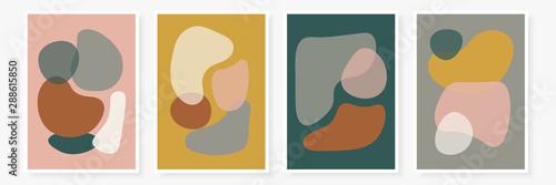 Nowoczesne szablony z abstrakcyjnymi kształtami. Współczesny styl kolażu na zaproszenia ślubne, ulotki, karty, plakat, okładkę magazynu itp.
