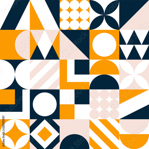 obraz dibond Abstract seamless pattern. Vector colorful geometric tile background.