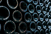 Bottles Of Wine Are In A Row