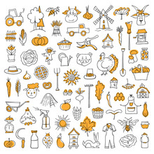 Set Of Doodle Elements On The ...