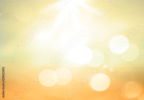 Türaufkleber Natur Summer holiday concept: Abstract blur beach sunset texture background