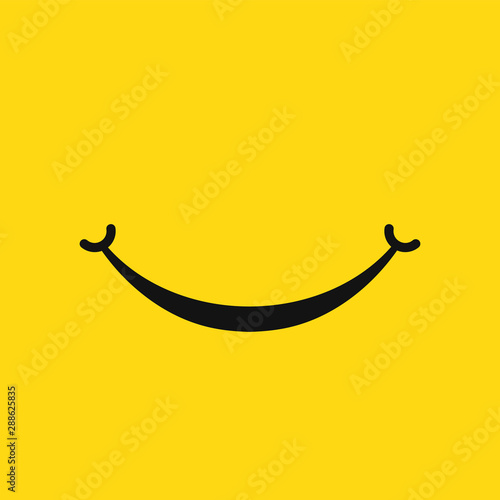 Fotografía Smile face icon isolated on white background