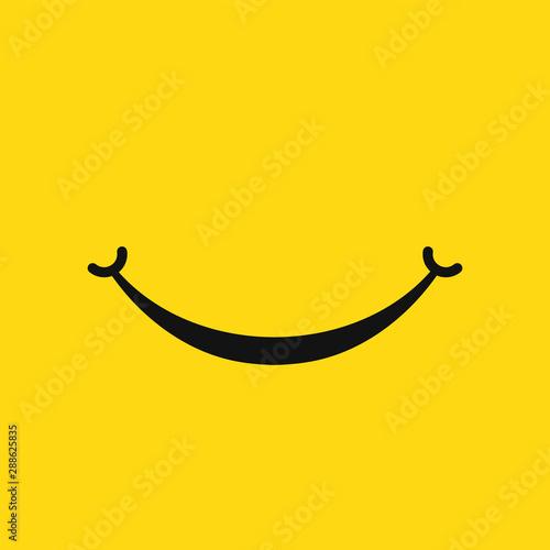 Smile face icon isolated on white background Tapéta, Fotótapéta