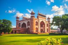 The Great Gate To Taj Mahal In Agra, India