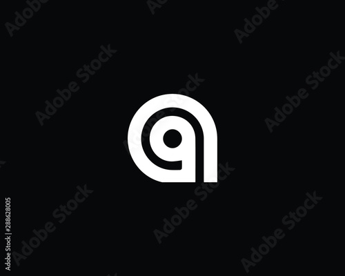 Creative and Minimalist Letter G AG GA Logo Design Icon | Editable in Vector For Canvas Print