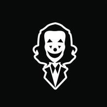 Joker Logo Icon Design Vector Illustration